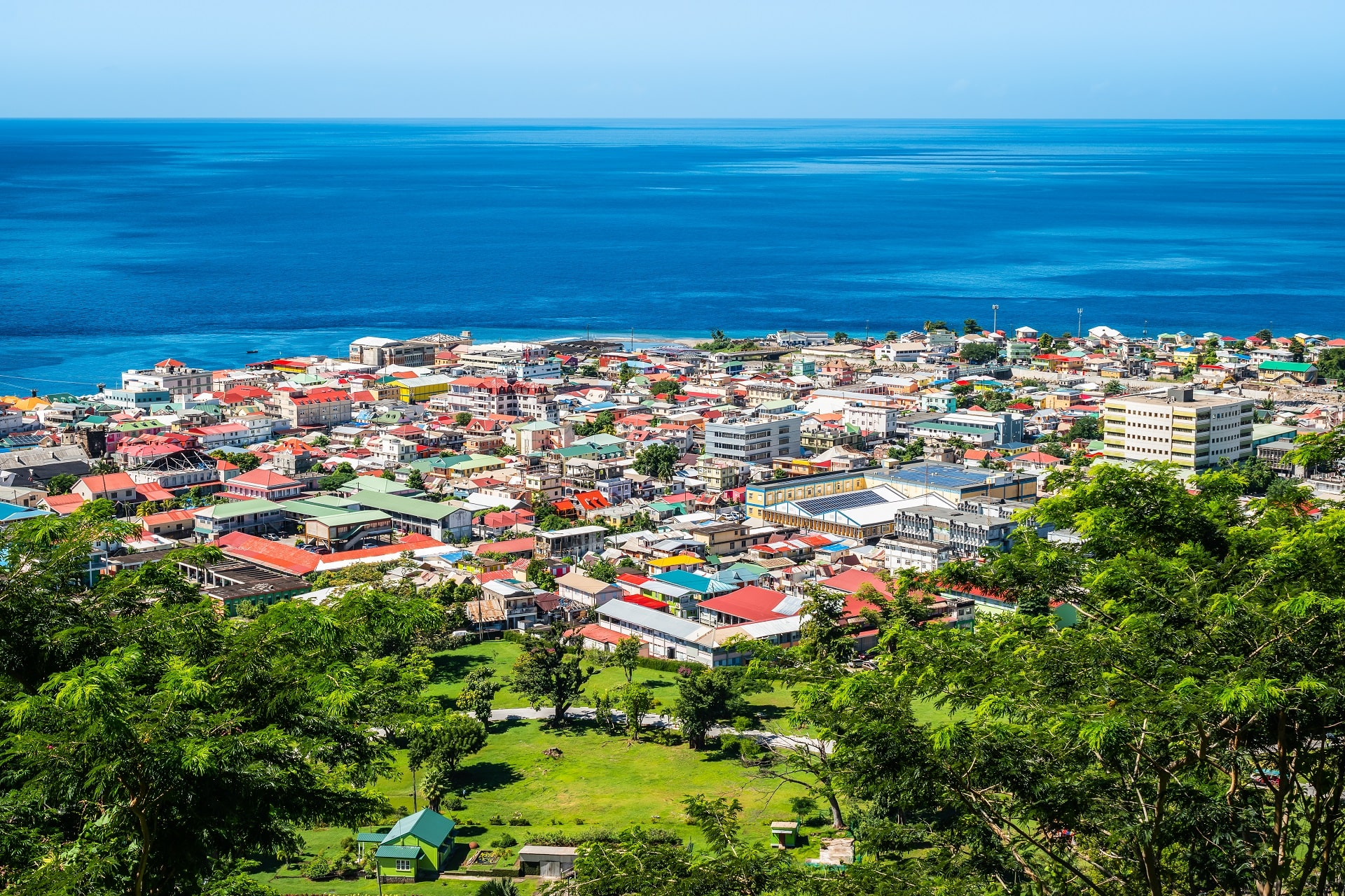 Roseau-Aerial-Dominica