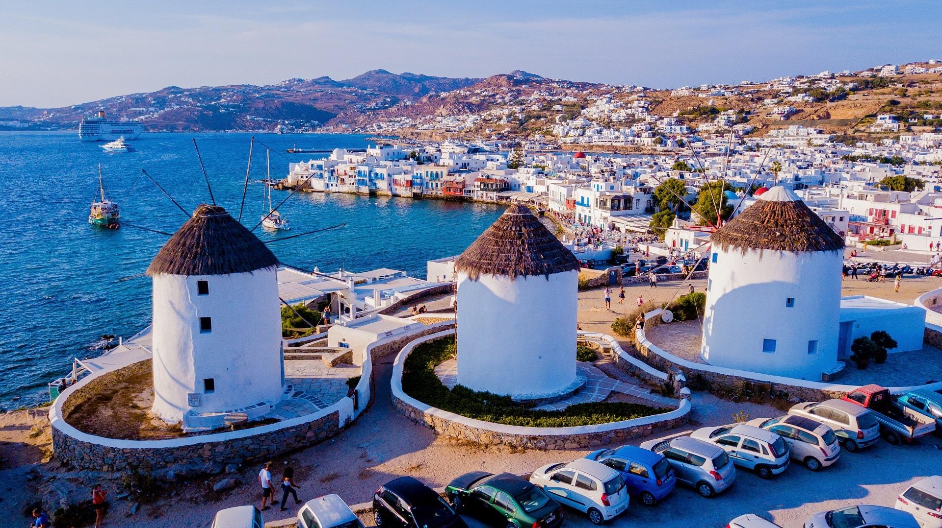 Mykonos-Windmills---Greece