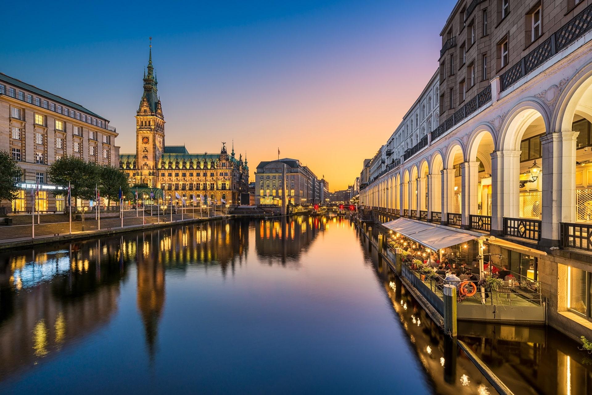 Hamburg-Sunset-Germany
