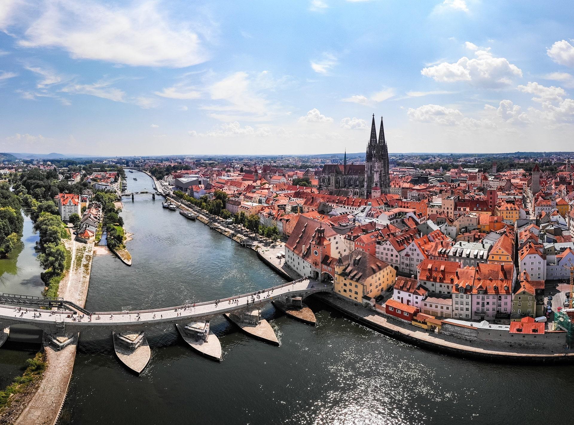 Regensburg-Germany-Aerial